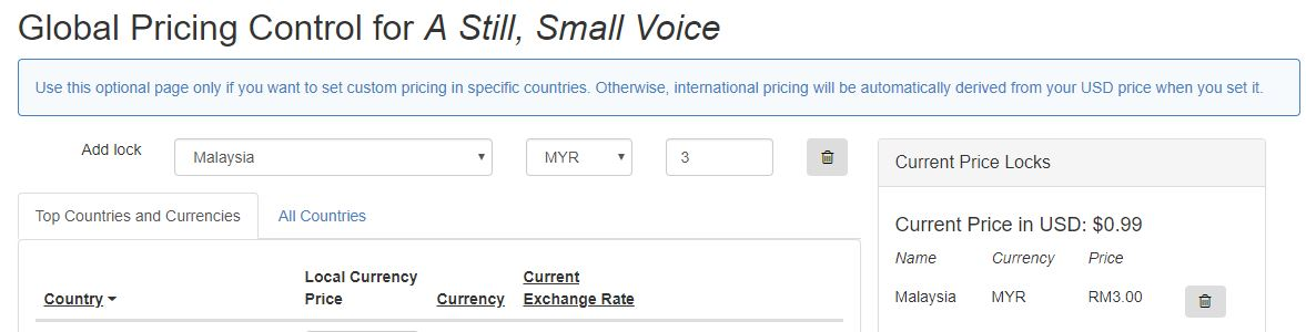 Global pricing for Smashwords