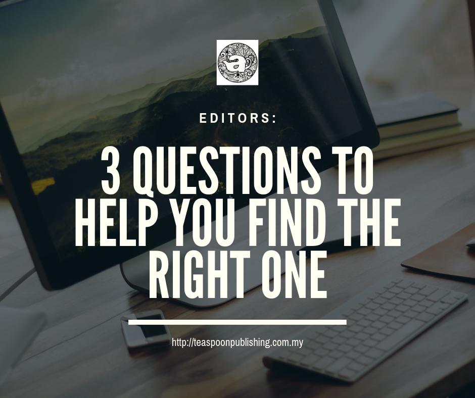 Editors: 3 Questions to help you find the right one